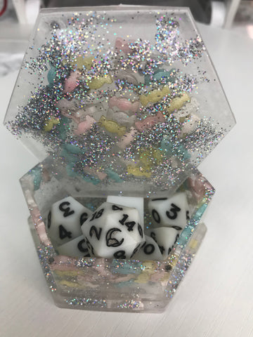 Candyland Hexagon Dice Box