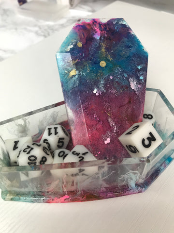 Astral Galaxy Coffin Dice Box