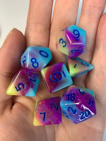 Sno Cone (Dark) Dice Set
