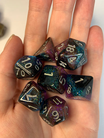 Dark Galaxy Dice Set