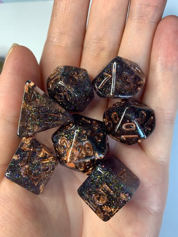 Dark Lights (Black) Dice Set