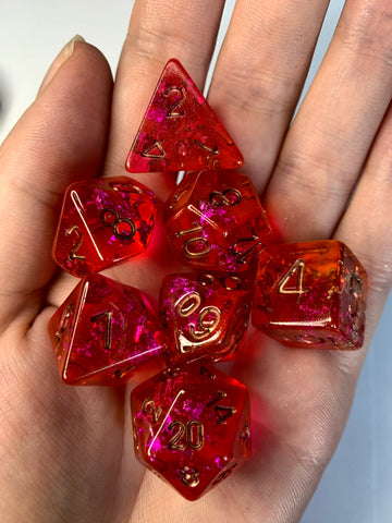Jello (Strawberry/Peach) Dice Set