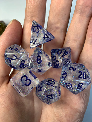 Dancing Lights (Clear) Dice Set