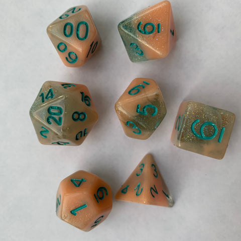 Sno Cone (Blueberry Peach) Dice Set