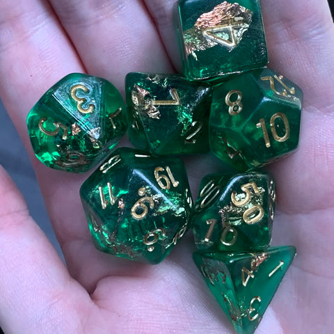 Dark Lights (Emerald) Dice Set
