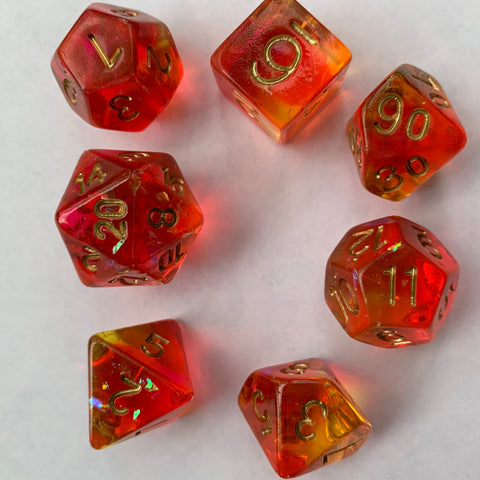 Sunfire Dice Set