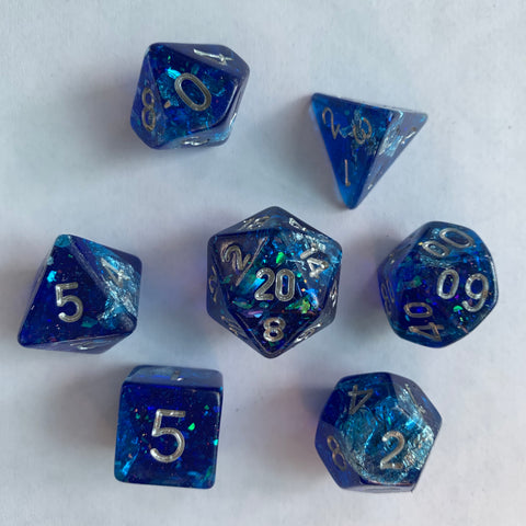 Dark Lights (Royal Blue) Dice Set