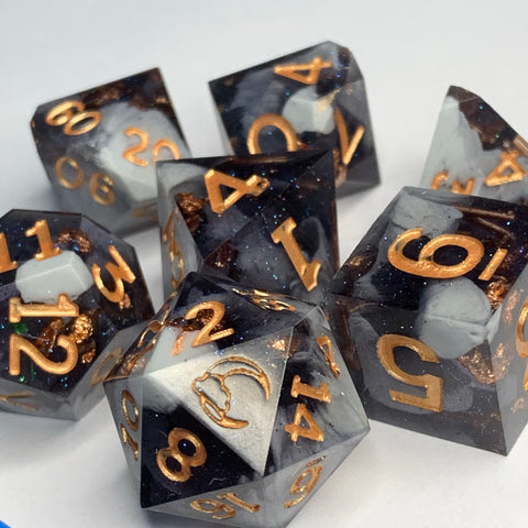 Logo Range - Widow Dice Set