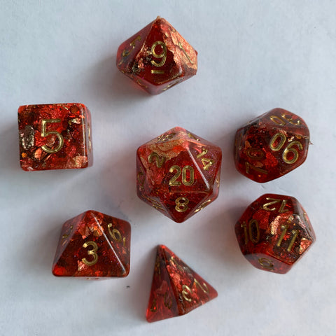 Autumn Gold Dice Set