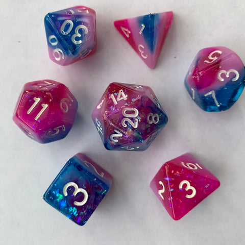 Sno Cone (Bi flag) Dice Set