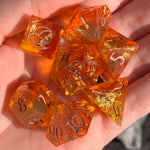 Fireball Sharp Edge Dice Set