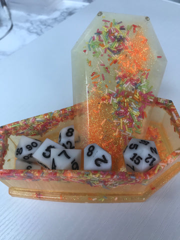 Lemon Cake Coffin Dice Box