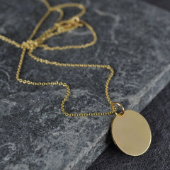 long yellow gold necklace
