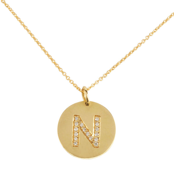 18ct Diamond Initial Necklace