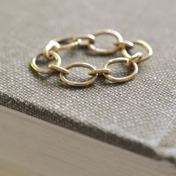 9 ct Gold Chain Link Ring