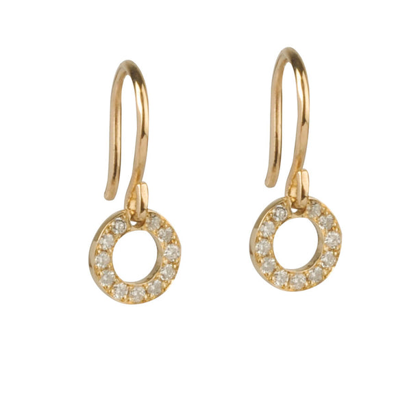 18ct Diamond Halo Drop Earrings