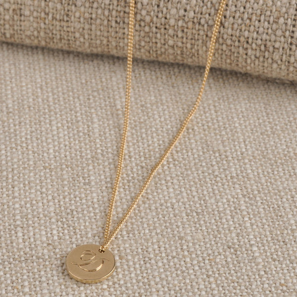 Small 9ct Double Sided Initial Necklace