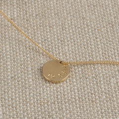 Simple Gold Disc Necklace