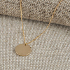 Medium Gold Double Sided Initial Coin Necklace