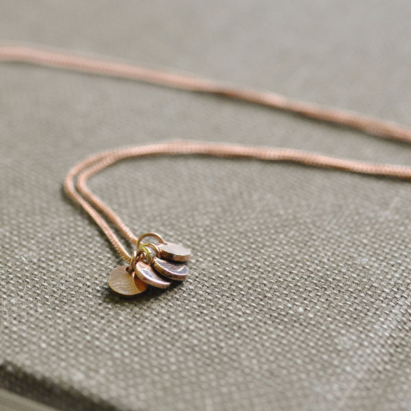 Rose Gold Sequin Necklace