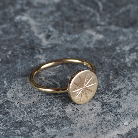STAR COIN STUD RING