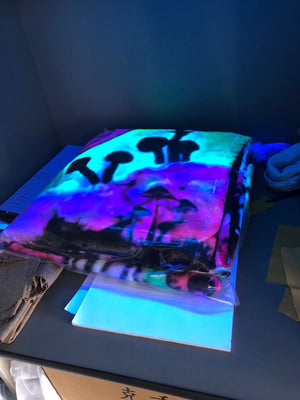 Spaced Out UV Reactive Blankets
