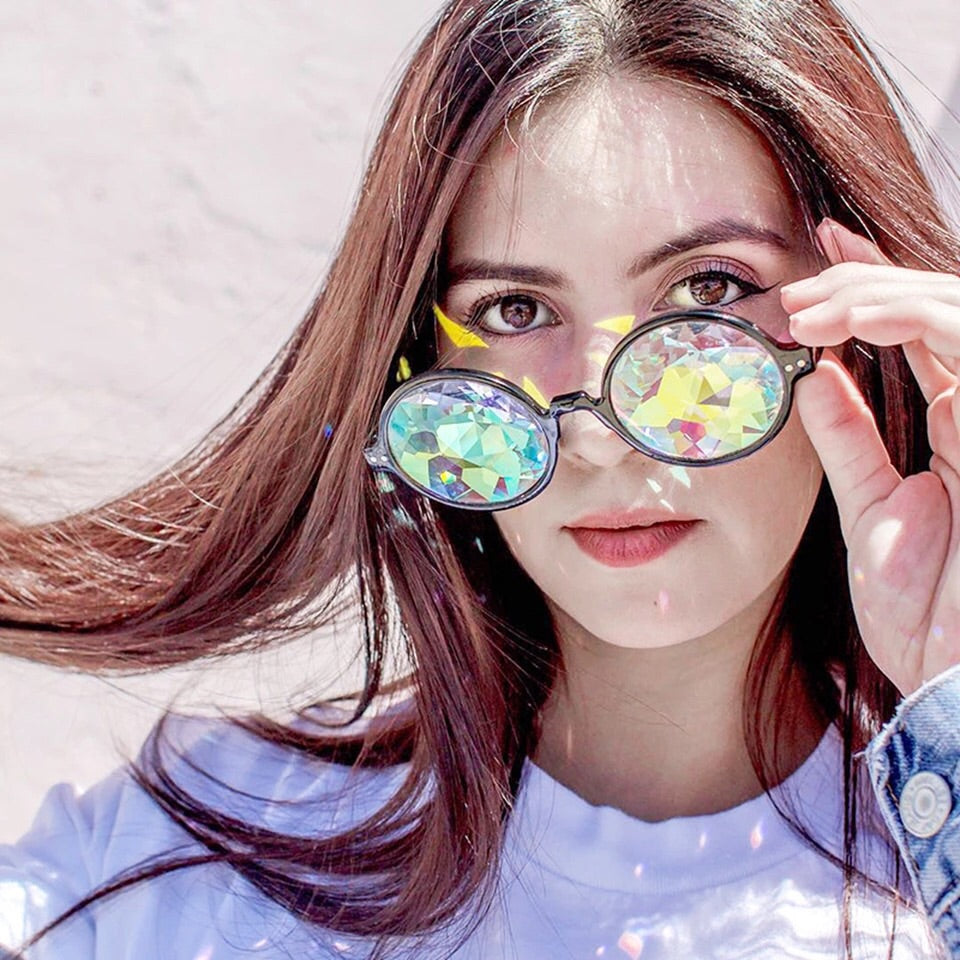 Floral Hippie Diffraction Glasses