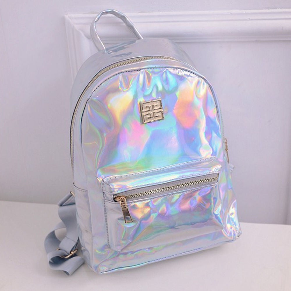 Women's Holographic Backpack Selection