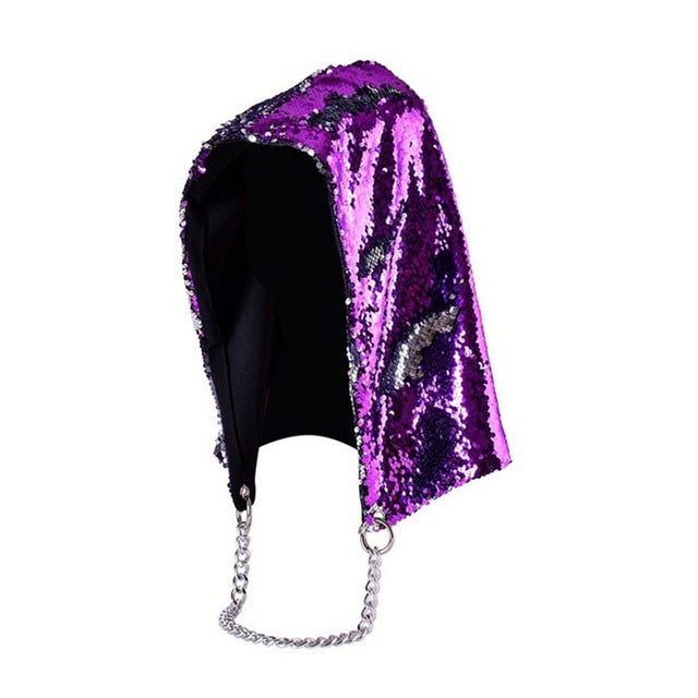 Mermaid Princess Sequined Hood