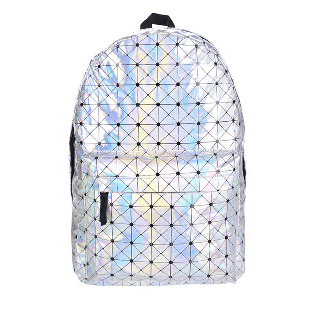 Patterned Holographic Backpack