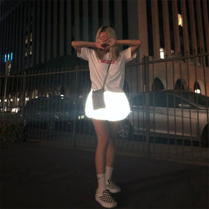 Women's Reflective High Waisted Shorts