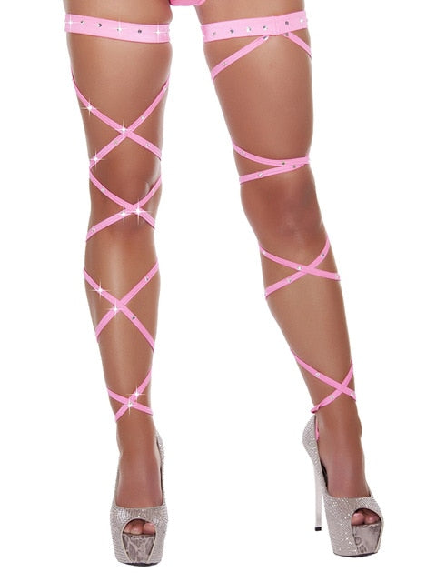 Neon Crystalloid Leg Wraps