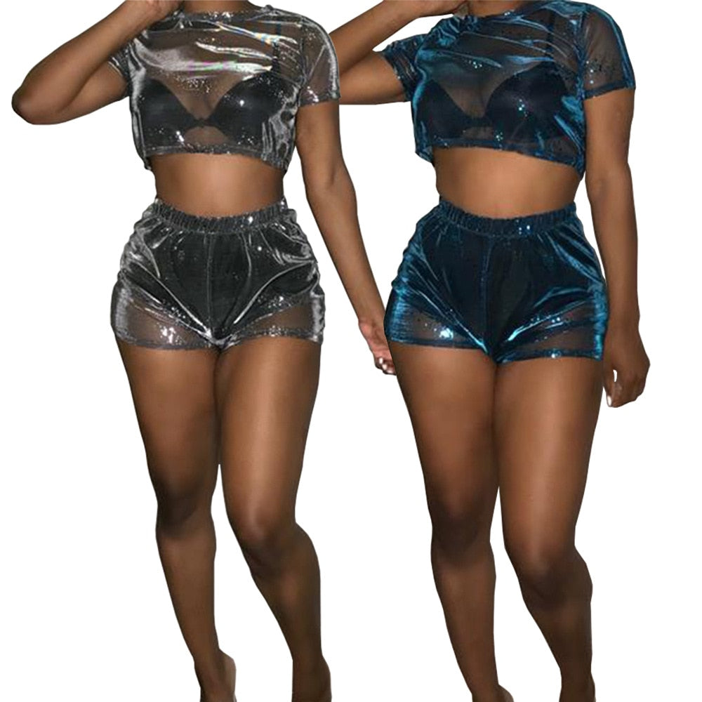 Seeking Transparent 2 Piece Set