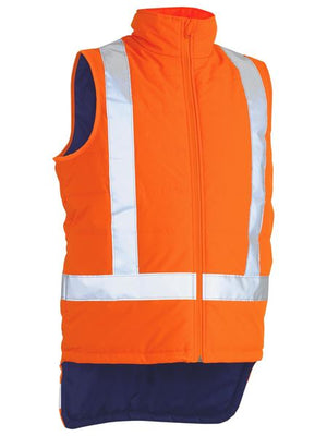 Bisley Taped Hi Vis Puffer Vest With X Back (BV0379XT)