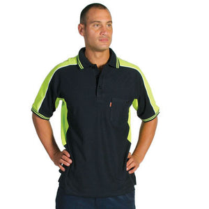 DNC Workwear-DNC Polyester Cotton Panel S/S Polo Shirt--Uniform Wholesalers - 1