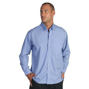 DNC Workwear-DNC Polyester Cotton Chambray L/S Business Shirt--Uniform Wholesalers - 1