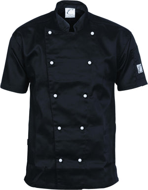 DNC Workwear-DNC Three Way Air Flow Lightweight Chef Jacket - S/S-XS / Black-Uniform Wholesalers - 1