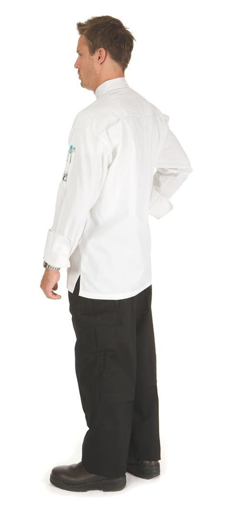 DNC Workwear-DNC Three Way Air Flow Lightweight Chef Jacket - L/S--Uniform Wholesalers - 1