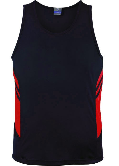 Aussie Pacific-Aussie Pacific Mens Tasman Singlet(3rd 8 color)-S / Navy/Red-Uniform Wholesalers - 2