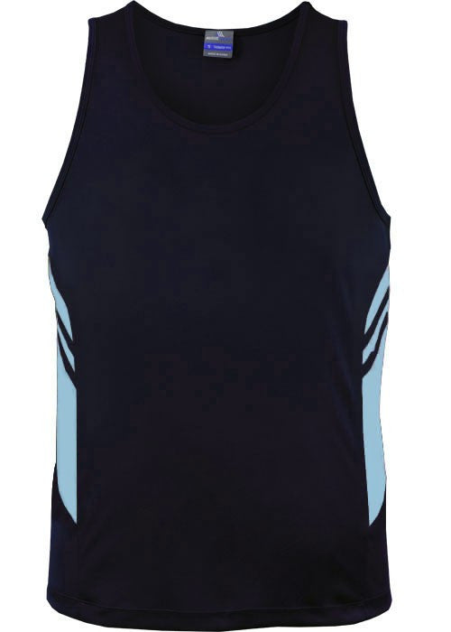 Aussie Pacific-Aussie Pacific Mens Tasman Singlet(3rd 8 color)-S / Navy/Sky-Uniform Wholesalers - 3