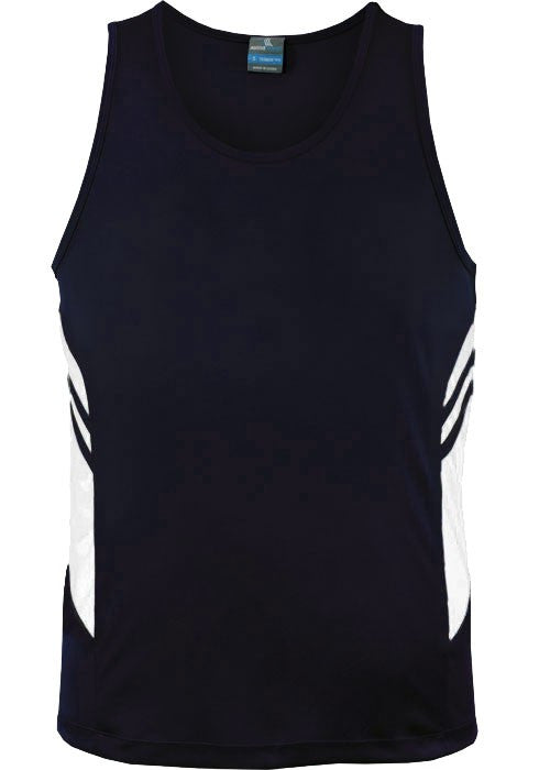Aussie Pacific-Aussie Pacific Mens Tasman Singlet(3rd 8 color)-S / Navy/White-Uniform Wholesalers - 4
