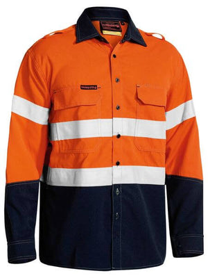 Bisley  Tencate Tecasafe® Plus Taped 2 Tone Hi Vis Fr Vented Long Sleeve Shirt (BS8082T)