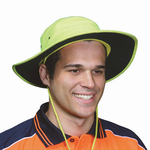 DNC Workwear-DNC HiVis Hat-S / Yellow-Uniform Wholesalers
