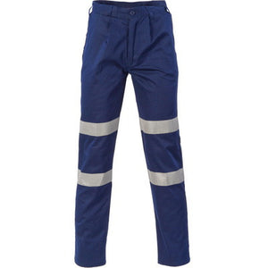 DNC Workwear-DNC Middle Weight Double Hoops Taped Pants-77R / NAVY-Uniform Wholesalers
