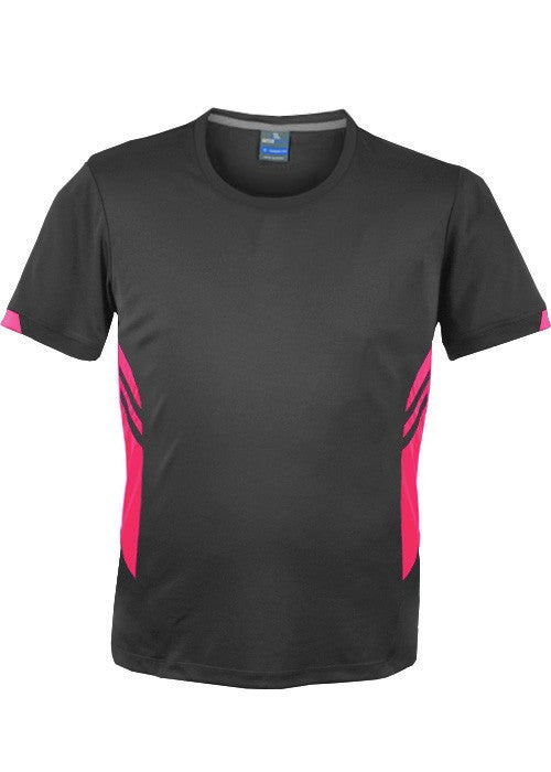 Aussie Pacific-Aussie Pacific Mens Tasman Tee(2nd 14 colors)-S / Slate/Neon pink-Uniform Wholesalers - 3