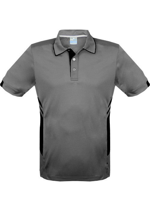 Aussie Pacific-Aussie Pacific Mens Tasman Polo (2nd 16 color)-S / Ashe/Black-Uniform Wholesalers - 21