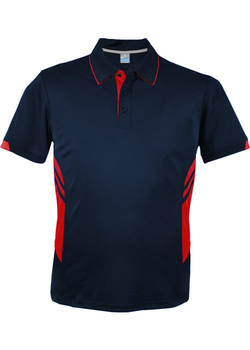 Aussie Pacific-Aussie Pacific Mens Tasman Polo (2nd 16 color)-S / Navy/Red-Uniform Wholesalers - 26