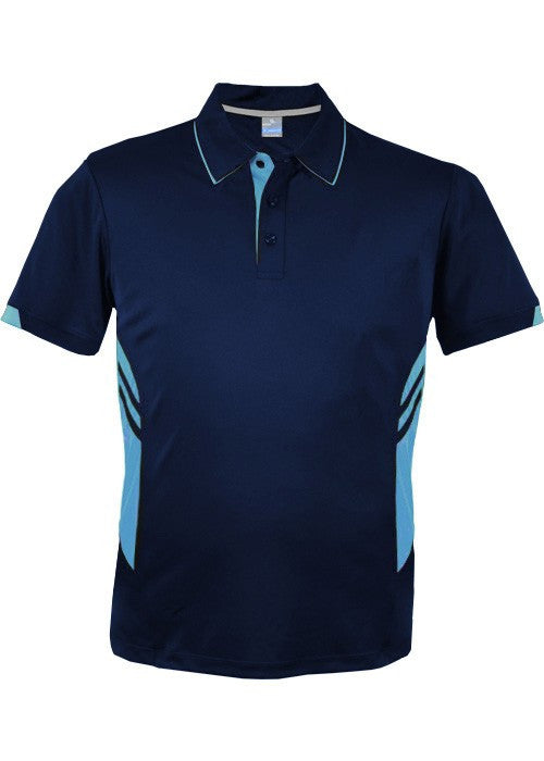 Aussie Pacific-Aussie Pacific Mens Tasman Polo (2nd 16 color)-S / Navy/Sky-Uniform Wholesalers - 27