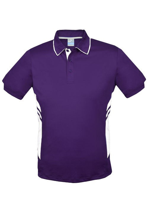 Aussie Pacific-Aussie Pacific Mens Tasman Polo (3rd 6 color)-S / Purple/White-Uniform Wholesalers - 2