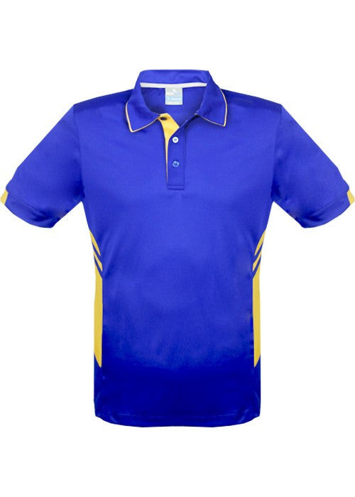 Aussie Pacific-Aussie Pacific Mens Tasman Polo (3rd 6 color)-S / Royal/Gold-Uniform Wholesalers - 3